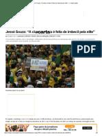 """Jessé Souza_ """"a Classe Média é Feita de Imbecil Pela Elite"""" — CartaCapital"""