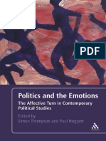 Simon Thompson, Paul Hoggett Politics and the Emotions the Affective Turn in Contemporary Political Studies