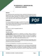 Absorcion y Peso Especifico Del Agregado (Mecanica de Suelos)