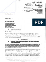 FEC Final Opinion to Perkins Coie on behalf of Facebook 4-26-2011