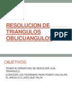 Resolucion de Triangulos Oblicuangulos