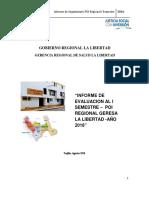 Informe de Evaluacion i Sem Consolidao Regional Poi 2016
