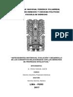 ANTECEDENTES HISTÓRICOS, EVOLUCIÓN Y DESARROLLO DEL DERECHO DE PROPIEDAD INTELECTUAL.docx