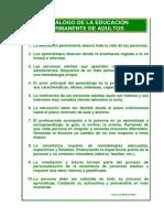 DECÁLOGO DE LA EDUCACIÓN PERMANENTE DE ADULTOS
