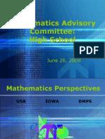 MathematicsAdvisory HighSchool