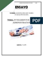 Ensayo-evolucion Historica de La Administracion