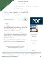 Cómo Crear Un Blog – Guía 2016 _ B30
