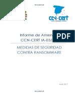 CCN-CERT IA-03-17 Medidas Seguridad Ransomware
