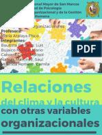 Cultura y Sus Relaciones Con Variables Organizacionales