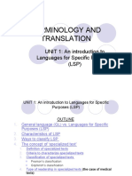 Terminology and translation-Introduction