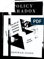 0 Deborah Stone Policy Paradox the Art of Political Decision Making