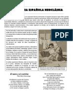 Literatura Española Neoclásica Guía