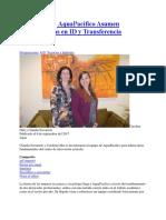 20170907 en AquaPacifico Asumen Coordinadoras en ID y Transferencia Negocios