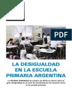 Buenos Aires, Catamarca, La Rioja, San Juan y Tucumán son las provincias con mayor desigualdad educativa
