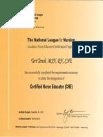 cne certificate
