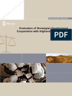 Evaluation of Norwegian Development Cooperation With Afghanistan 2001-2011