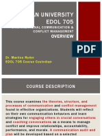 edol 705 course overview students