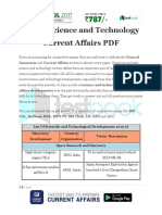 Latest Science and Technology Current Affairs PDF