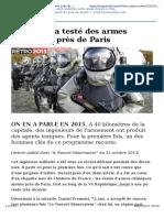 Armes Chimiques Paris