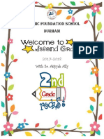 grade 2- welcome package