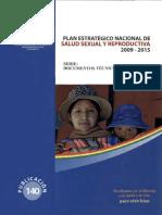 Plan Estrategico Nacional de Salud Sexual y Reproductiva