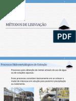 Aula 2 - Métodos de Lixiviação