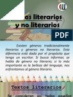 Ppt. Apoyo Clase de Lenguaje. Textos Literarios y No Literarios