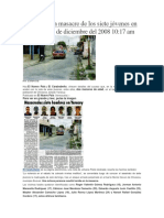 Detalles de La Masacre de Los Siete Jóvenes en Chivacoa