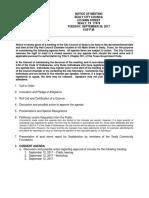 September 26, 2017- Sealy City Council Agenda