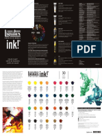 Liquitex Color Chart Ink Leaflet - LR.