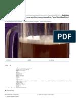 Cerveza artesanal - Receta