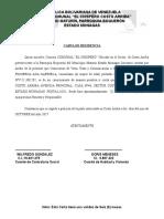 Carta de Residencia EL CHISPERO