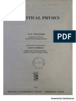 Statistical Mechanics -Terleskii