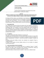 Prêmio Governo Minas Gerais de Literatura - Edital 2017
