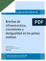 Brechas de Infraestructura Crecimiento y Desigualdaden Los Países Andinos