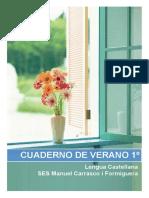 Cuaderno de Verano 1º ESO LENGUA SES Manuel Carrasco i Formiguera