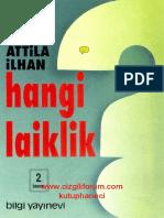 Attila İlhan - Hangi Laiklik
