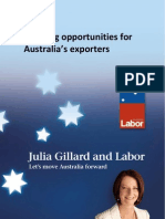 Securing Opportunities for Australia's Exporters