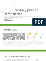 Temperatura y Presion Atmosferica.