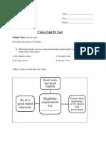 civics unit 1 test  shortened version