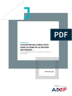Guide Pédagogique Sur l'Utilisation Des Stress-tests Dans Le Cadre de La Gestion Des Risques Des Sociétés de Gestion de Portefeuille