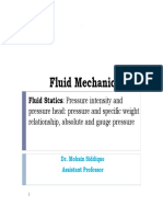 Fluid Statics - Coverage for Exam 1