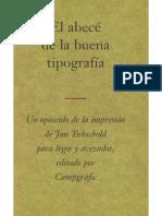 Jan Tschichold El Abecé de La Buena Tipografía