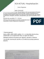 Historia Medica Actual Hospitalización