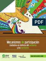 Mecanismos de participación en defensa del ambiente y los territorios