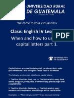 Ingles 4 Clase 10 Capitalization