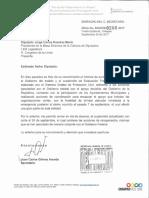 Oficio al Dip Jorge Ramírez