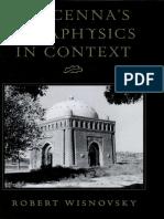 WISNOVSKY. Avicenna's Metaphysics in Context