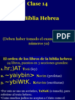 Clase 14  LaBiblia hebrea.ppt