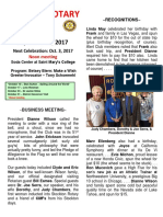 Moraga Rotary Newsletter September 26, 2017